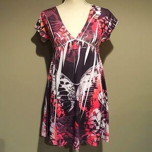 Charlotte Russe Empire Waist Butterfly Dress